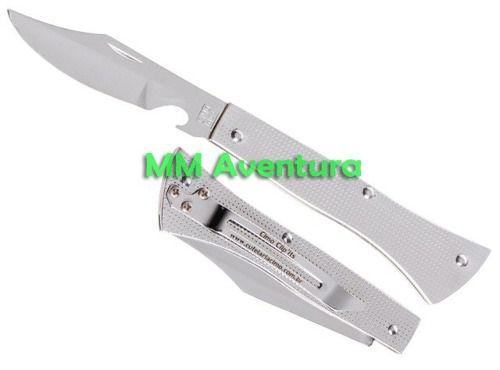 Canivete Cimo Aço Inox c/ Clip e Abridor Garrafa 14/3