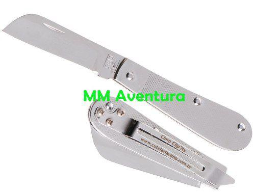 Canivete Cimo Aço Inox Tradicional c/ Clip 13/3