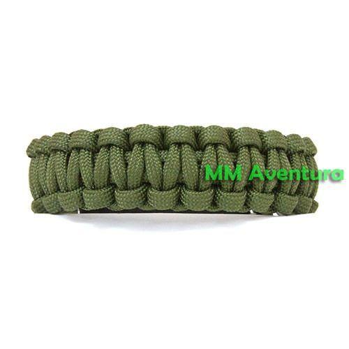 Pulseira Bracelete Paracord de Sobrevivência c/ Apito Verde