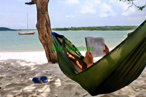 Rede Joy Verde Oliva Kampa Nylon de Descanso Acampar Camping c/ Bolsa