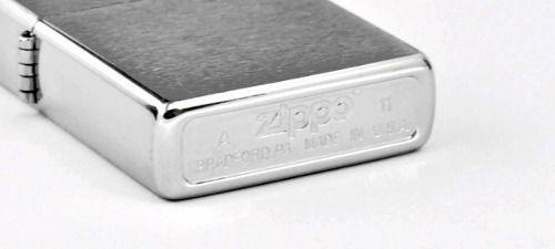 Isqueiro Zippo Aço Escovado Brush Fin Chrome 200