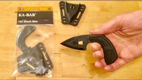 Faca Ka-bar TDI Shark Bite Toda em Polímero p/ Defesa Pessoal
