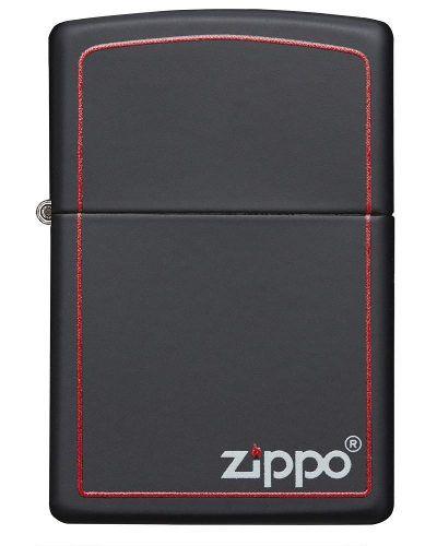 Isqueiro Zippo Original 218ZB Preto c/ Borda Vermelha