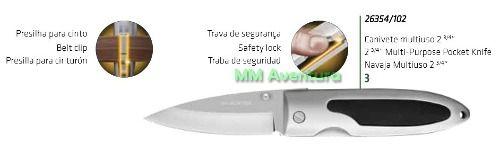 Canivete Tramontina Inox Cabo Alumínio Borracha - 26354/104