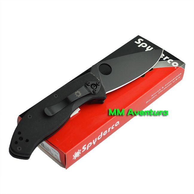 Canivete Spyderco Tenacious Preto C122GBBKP de Fibra G10 com Clip