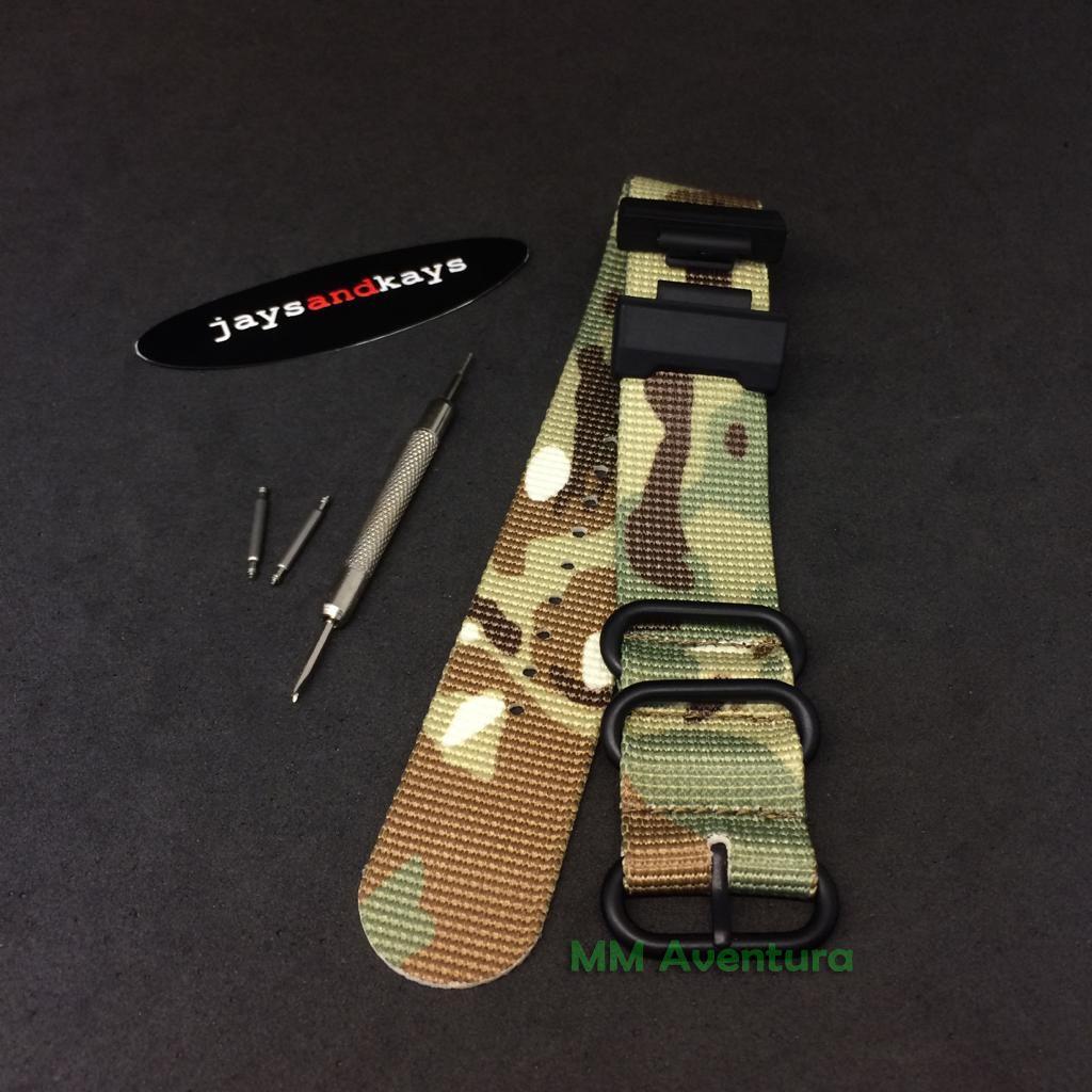 Pulseira de Nylon Nato Zulu JaysAndKays p/ G-Shock DW5600 GA100 etc