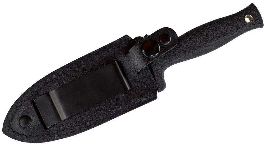 Faca Punhal Dagger Schrade SCHF19 Bainha em Couro c/ Clip p/ Bota Boot Knife