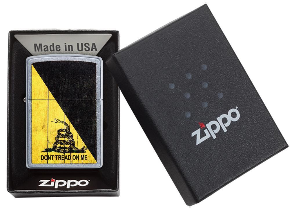 Isqueiro Zippo Don't Tread On Me Cobra Aço Escovado Cod. 29842
