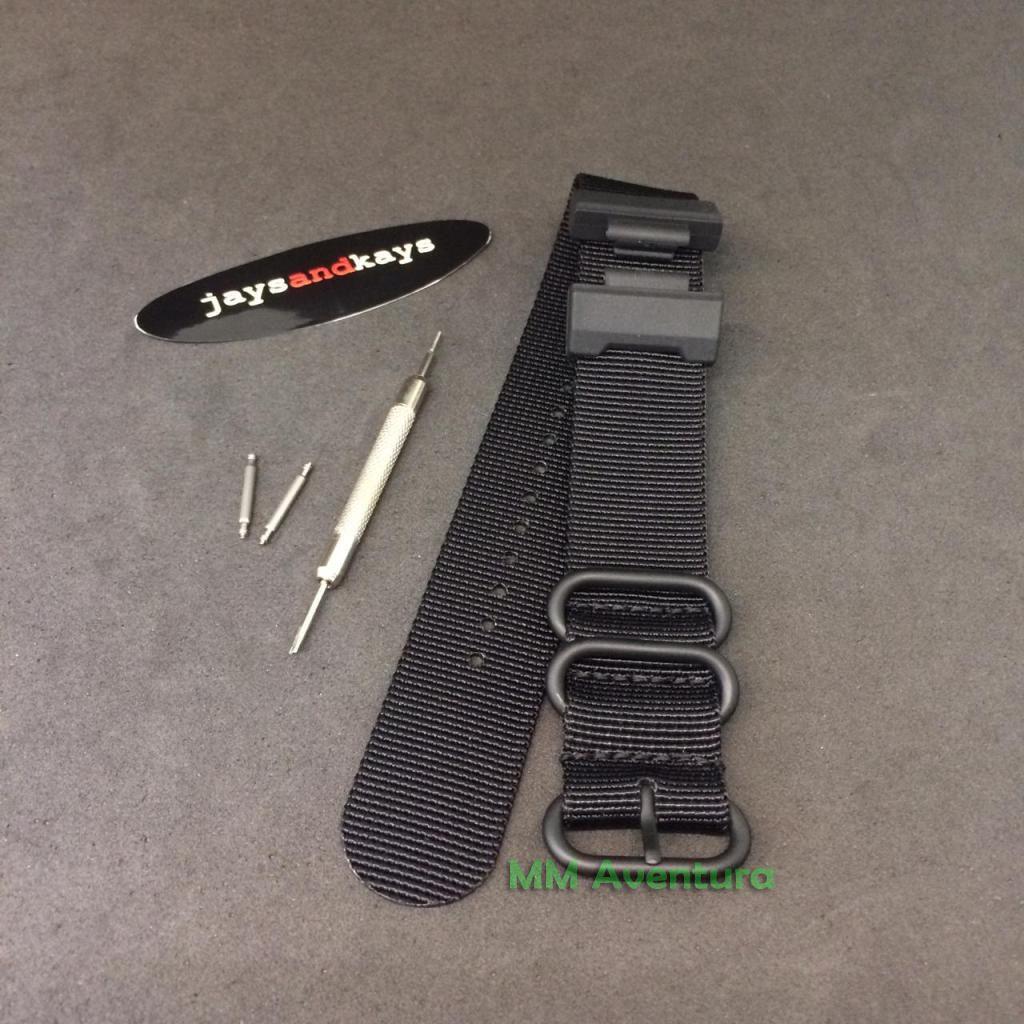 Pulseira de Nylon Nato Zulu da JaysAndKays para G-Shock GD350 GX56 GDX6900