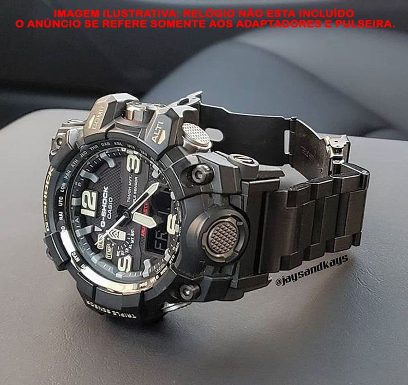 Pulseira em Aço Inox JaysAndKays p/ G-Shock Mudmaster GWG1000