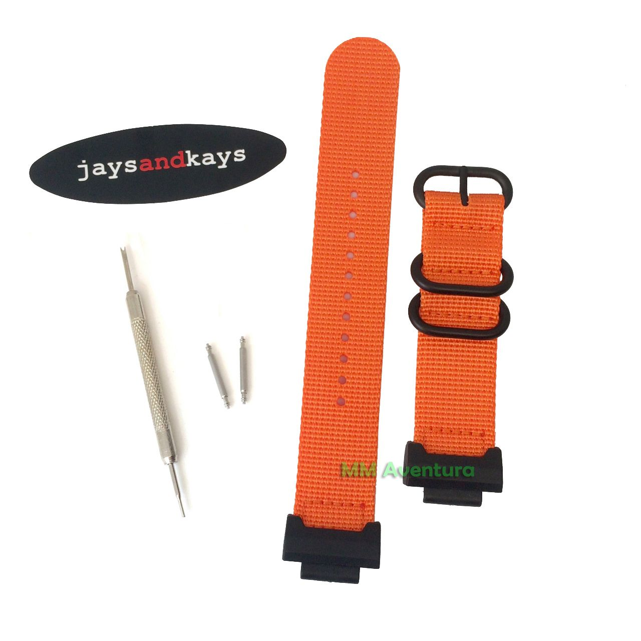 Pulseira Nylon 2 pç Heavy Duty Nato Zulu JaysAndKays p/ G-Shock 22mm DW5600 DW6600 GA800 DW9052 etc