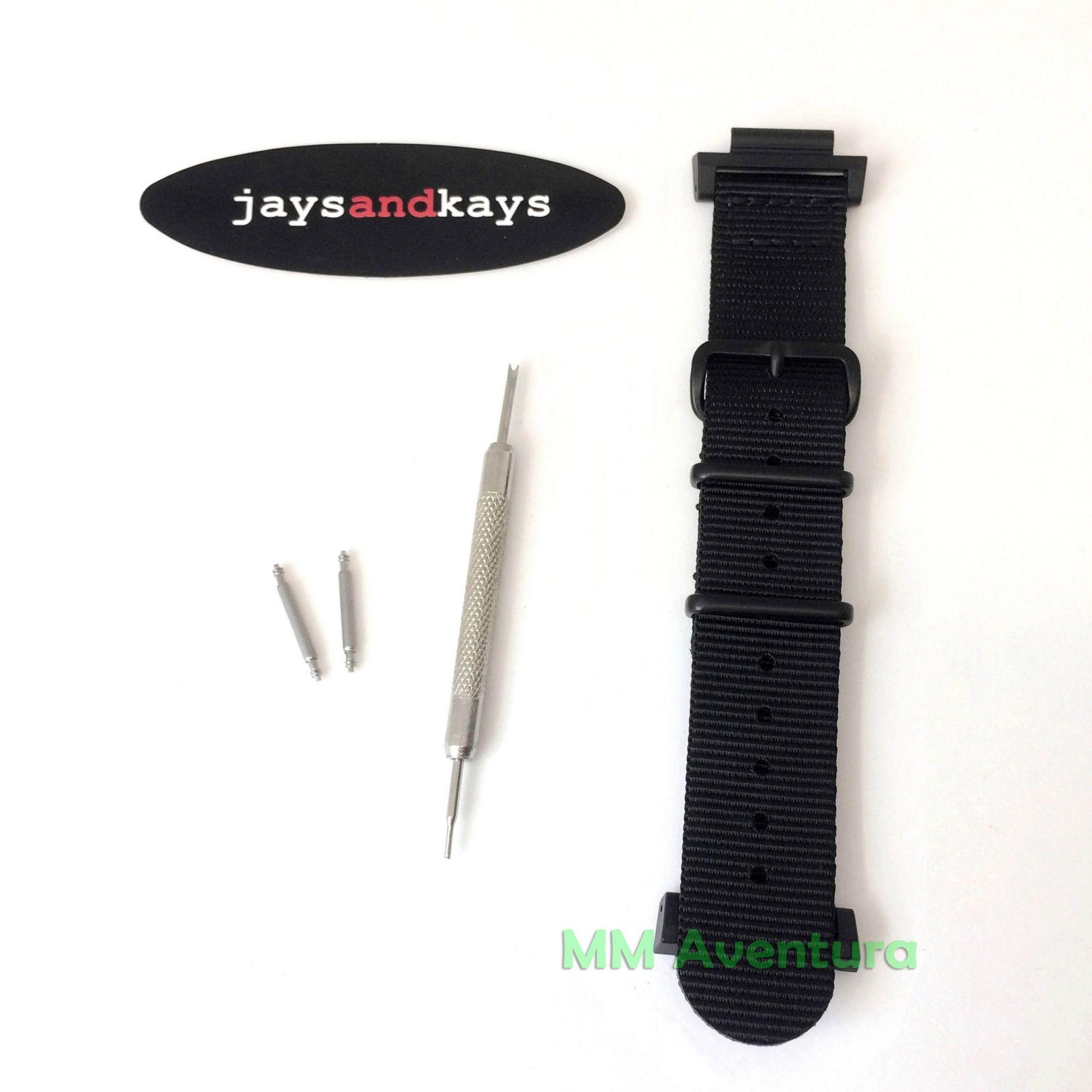 Pulseira Nylon 2 pç Nato Zulu JaysAndKays p/ G-Shock 22mm - GX56 GD350 GA110 etc