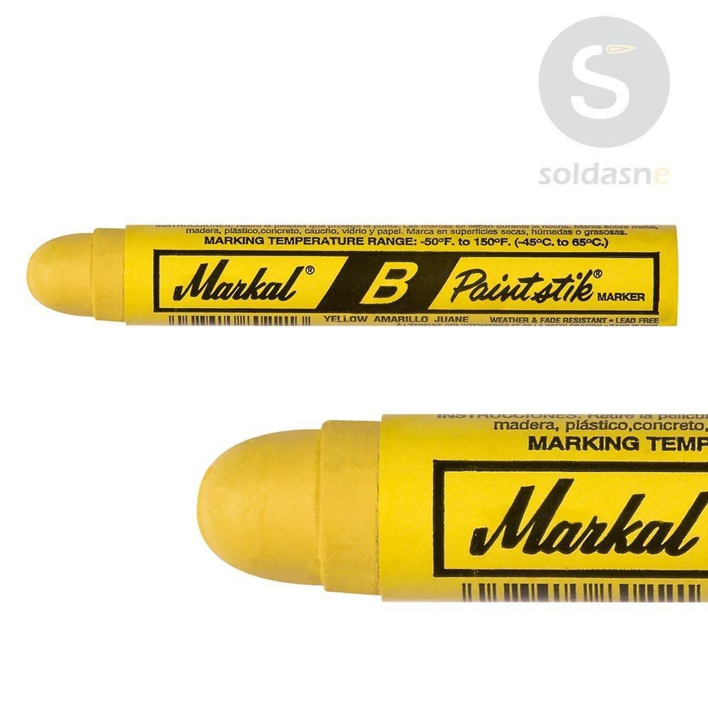 Caneta Marcadora em barra Amarelo - Markal B Paintstik  - LUC