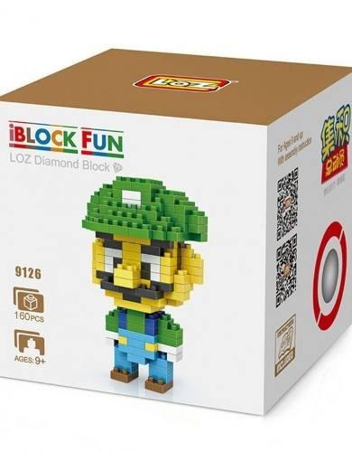 Luigi série Mario Bros - Bloco De Montar Loz