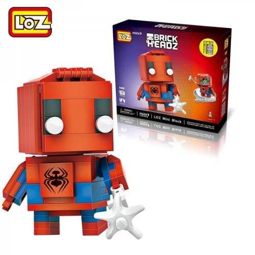 Homem Aranha - Bloco De Montar Loz  Brick Headz