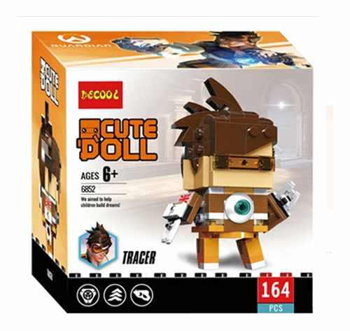 Bloco De Montar Decool Cute Doll Tracer Overwatch Xbox Ps4