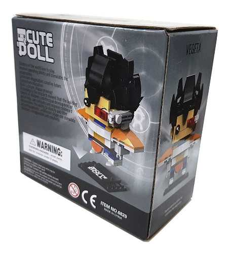 Bloco De Montar Decool Cute Doll Vegeta Dragon Ball