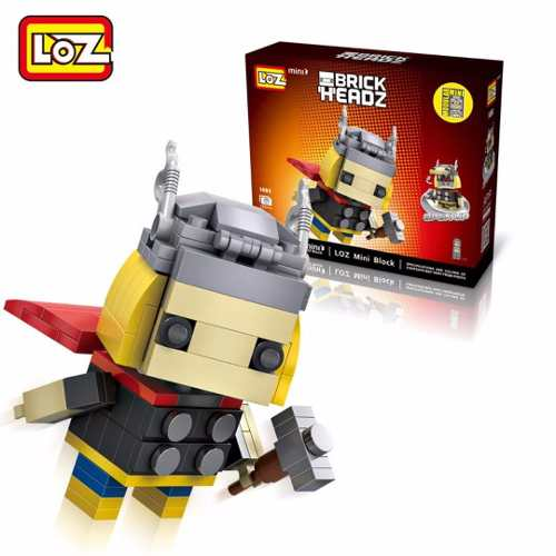 Bloco De Montar Thor Loz  Brick Headz