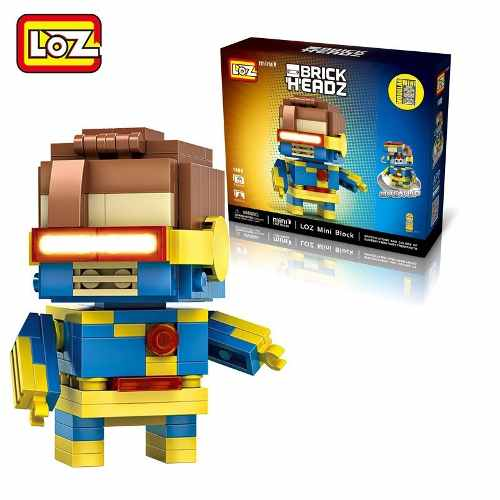 Bloco De Montar Cyclops Loz Brick Headz