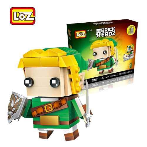 Bloco De Montar The Legend of Zelda Link Loz Brick Headz