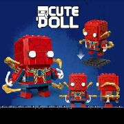 Bloco De Montar Jisi Cute Doll Spiderman Homem Aranha Marvel