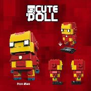 Bloco De Montar Jisi Cute Doll Ironman Homem De Ferro Marvel