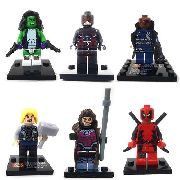 Kit 6 Blocos De Montar Marvel Super Heroes Mod 3