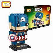 Bloco De Montar Capitão América Loz Brick Headz
