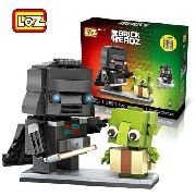 Bloco De Montar Darth Vader Yoda Loz Star Wars Brick Headz