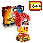 Bloco De Montar Ronald Mc Donalds Loz Brick Headz