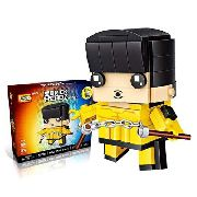 Bloco De Montar Bruce Lee Dragão Loz Brick Headz