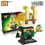 Bloco De Montar Loki Vingadores Marvel Loz Brick Headz