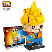 Bloco De Montar Goku Ssj Dragon Ball Loz Brick Headz