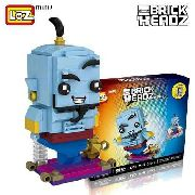 Bloco De Montar Genio Do Aladdin Genie Loz Brick Headz