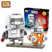 Bloco De Montar Star Wars Bb8 Trooper Loz Brick Headz