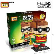 Bloco De Montar Robin Do Batman Dc Heroi Loz Brick Headz