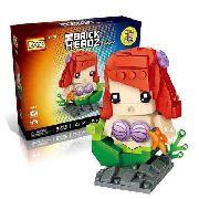 Bloco De Montar Ariel Pequena Sereia Loz Brick Headz