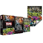 Livro Box Marvel Guerra Civil Guerra Secreta + Poster Slim