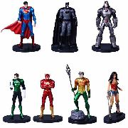 Kit Com 7 Action Figure Boneco Dc Liga Da Justiça