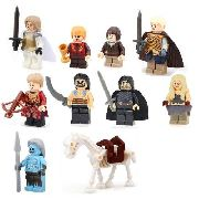 Kit Com 10 Blocos De Montar Game Of Thrones Decool Novo