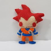 Chaveiro Goku Red Ssj Dragon Ball Z Super Dbz Feltro