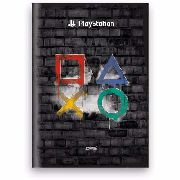 Caderno Playstation Spiral Brochura 48 Folhas Geek Original