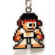 Chaveiro Street Fighter Ryu Pixel Metálico