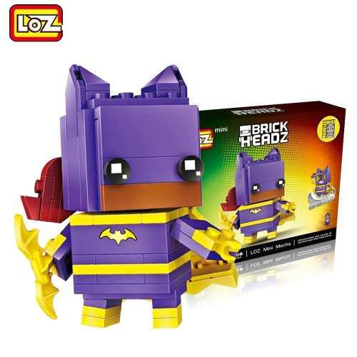 Bloco De Montar Batgirl Mulher Batman Dc Loz Brick Headz