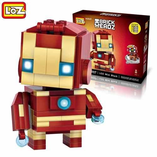 Bloco De Montar Iron Man Homem De Ferro Loz Brick Headz