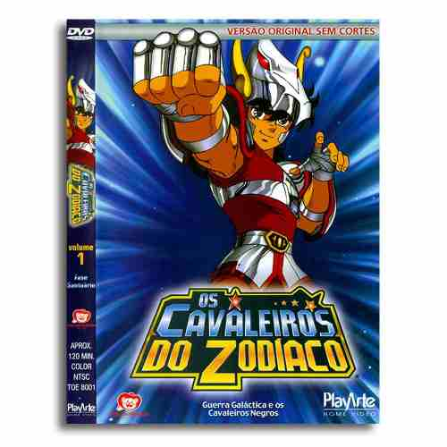 Os Cavaleiros Do Zodiaco Original Dvd Volume 1 Sem Cortes