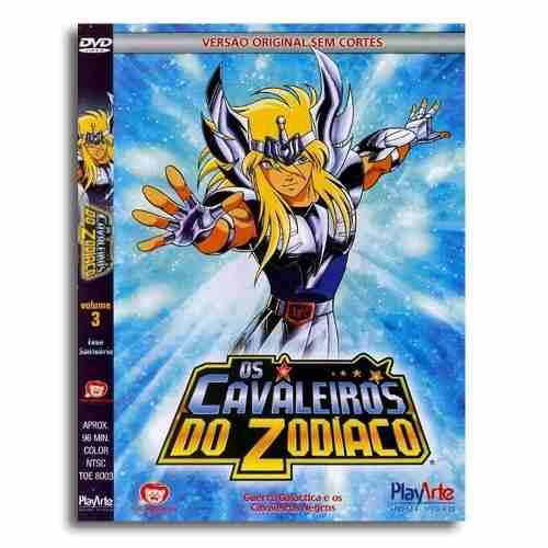 Os Cavaleiros Do Zodiaco Original Dvd Volume 3 Sem Cortes