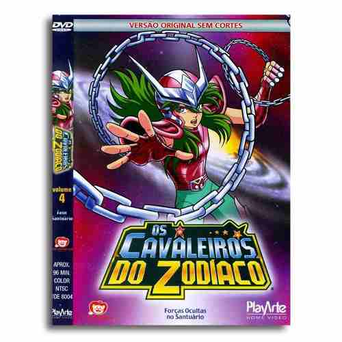 Os Cavaleiros Do Zodiaco Original Dvd Volume 4 Sem Cortes