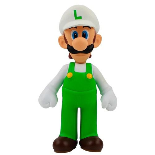 Super Mario Bros Luigi Branco - Fogo Banpresto