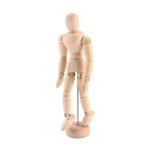 Boneco Manequim De Madeira Articulado 14 Cm